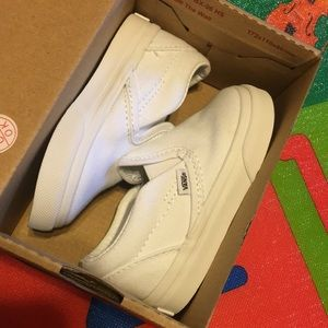 All white toddler Vans